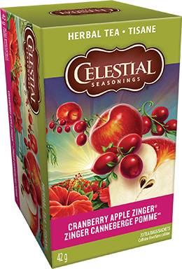 Celestial seasonings tisane Zinger canneberge pomme